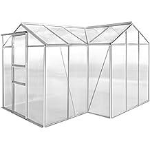 Festnight Invernadero de Aluminio con Placas Transparentes de Policarbonato