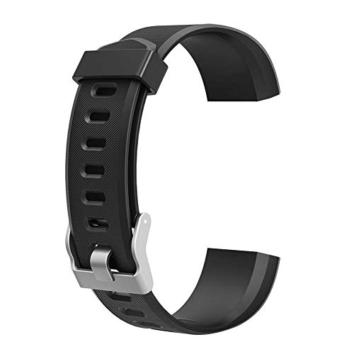 Demiawaking Uhrenarmband-Ersatzzubehör für ID115Plus HR Smart Watch, Schwarz