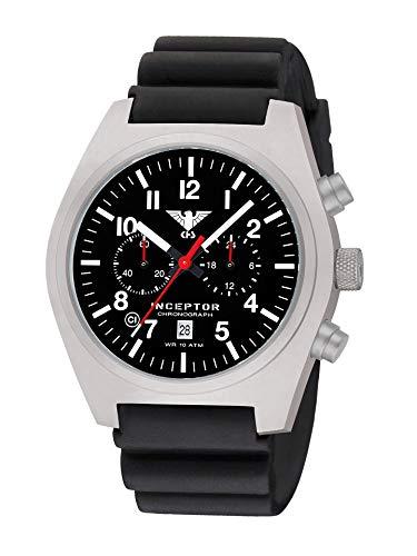 KHS Inceptor KHS.INCSC.DB - Cronografo in acciaio con cordoncino, colore: Nero
