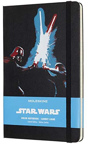 Moleskine Notizbuch (Star Wars, L/A5, Liniert, Hard Cover) laserschwertduell