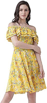 Styleville.in Synthetic Skater Dress for women