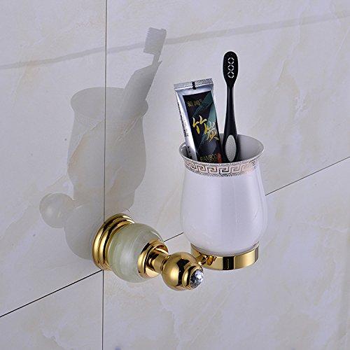 XBR coupe unique brosse à dent des accessoires de salle de bain or coupe coupe coupe titulaire titulaire de laver les toilettes,golden