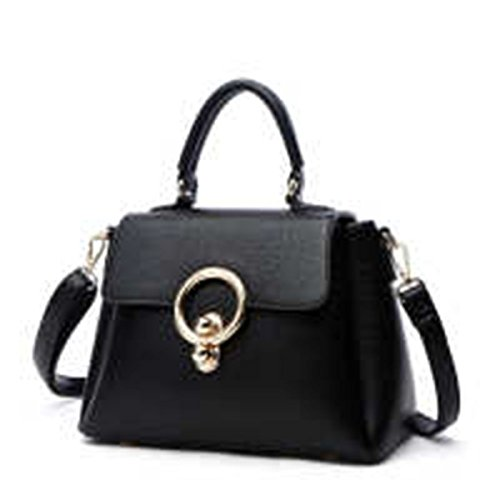 WU Zhi Lady In Pelle Borse Pacchetto Diagonale Black