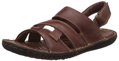 Red Chief Men's D Tan Leather Sandals and Floaters - 8 UK/India (42 EU)(RC390 399)
