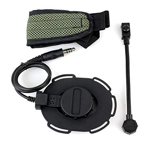 Z Tactical Bon Elite II Oreillette Airsoft Mic Radio Boom 3 Vert + Noir pour Z Tactical HD-03 Best C2130G