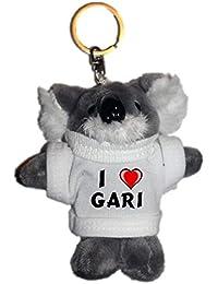 Shopzeus Coala de Peluche (Llavero) con Amo Gari en la Camiseta (Nombre de