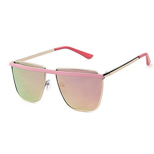 Oipoodde Lady Sonnenbrille Einfache Retro-Vollformat-Sonnenbrille für Herren und Damen UV-Schutz Driving Holiday Summer Beach (Farbe : C2)