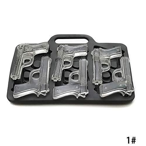 Eiswürfelform Küchenwerkzeug Silikon Schalen Formen EIS Schokolade Schokolade 3D Multi-Hohlraum Granate Kugeln Pistolen Persönlichkeit Form Hause DEE Küche Zubehör (Granate Schokolade)