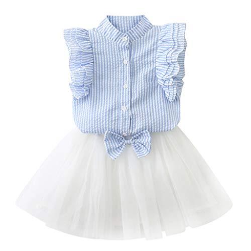 Mädchen Kleid Blumen Kleinkind Tutu Kinder Baby Kleidung Urlaub ärmellose Spitze Rüschen Party Prinzessin Kleider(2-7Jahre)