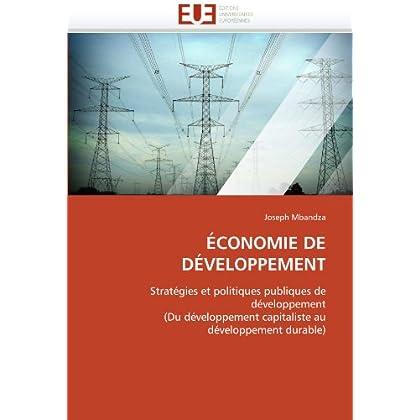 Économie de développement