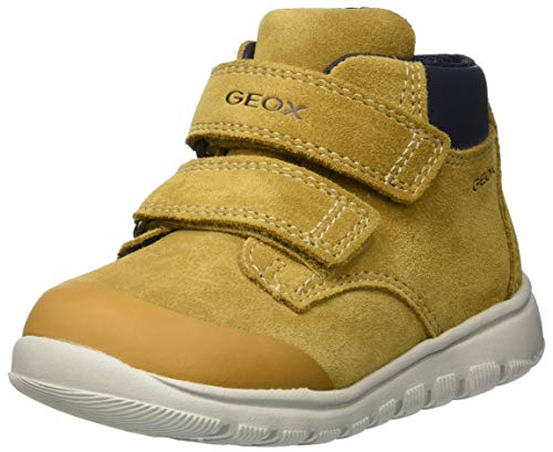 Geox B Xunday Boy A, Zapatillas para Bebés, Amarillo Dk Yellow C2006, 26 EU