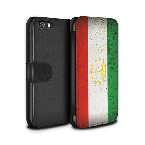 Stuff4 Coque/Etui/Housse Cuir PU Case/Cover pour Apple iPhone 5C / Arménie/Arménien Design / Drapeau Asie Collection Tadjikistan/Tadjikistan