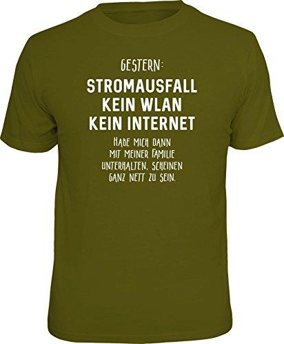 Original RAHMENLOS® T-Shirt für den Nerd: Stromausfall! Kein WLAN…