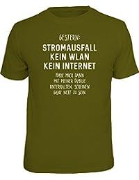 RAHMENLOS Original T-Shirt für Den Nerd: Stromausfall! Kein WLAN…