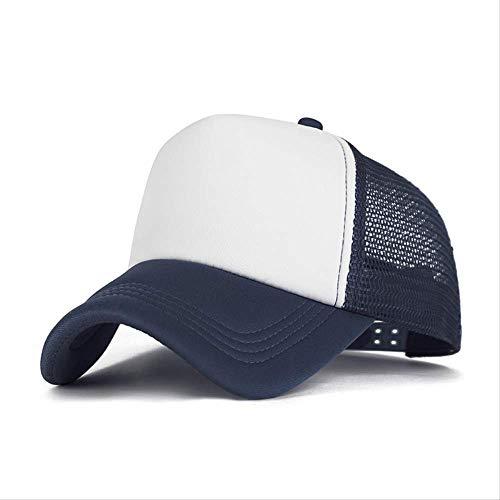 GYFKK Hut Mode Baseball Cap Frauen Mesh Cap Männer Verstellbare Sport Hut Unisex Ultradünne Schnelltrocknen Baseball Hut B (Stewardess Hut Weiß)