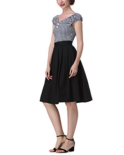 ZAFUL Damen 50s Blusenshirt Retro Sommer Top Pinup Kurz T Shirts mit  Puffärmeln-Marine Blau. 253222720. 253222720. 253222720. 253222720 259662b6e3