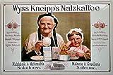 Wyss Kneipps Malzkaffee Blechschild 20 x 30 cm