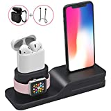 SPLAKS Apple Watch Stand,Silicone Charge Dock Holder for Apple Watch & Docking Station