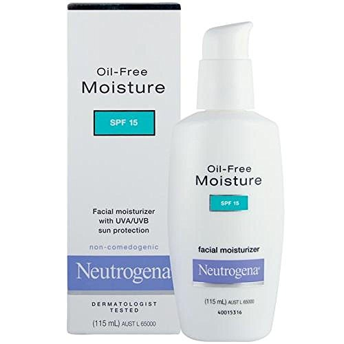 Neutrogena Oil-Free Moisture SPF15 Facial Moisturiser With UV Sun Protection 115 ml With Ayur Sunscreen Lotion 50ml