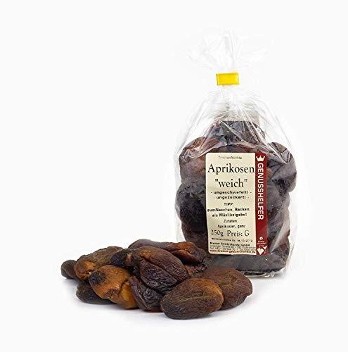 Aprikosen getrocknet ohne Zuckerzusatz 1 kg Sparpack - Trockenfrüchte soft, ungeschwefelt - Für Müsli, Joghurt, Quark oder zum Backen - Bremer Gewürzhandel - Soft-aprikosen