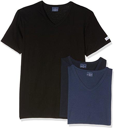 Navigare 512, maglietta intima uomo, set da 3, multicolore (nero/navi/jeans), xxxx-large