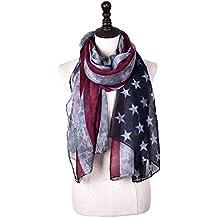 Ndier Foulards de Châle stars Foulard drapeau américain américain écharpe  de mode de Charme Drapeau américain 231f98cf812