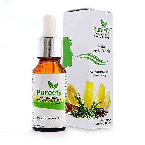 BreatheFresh Pureefy AntiBacterial Essential Oil Blend for Sinuses, Allergies, Common Flu and Headache, 20ml (Brown)