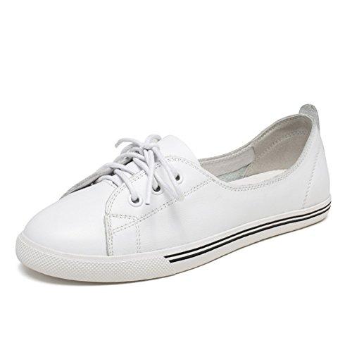 Chaussures plates occasionnelles/Petites chaussures blanches/Bouche peu profonde avec des chaussures de Joker cintre A