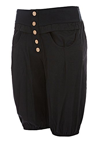 Damen Hose Kurz Knielang Pumphose Aladinhose S M L, Farbe:Schwarz;Größe:40