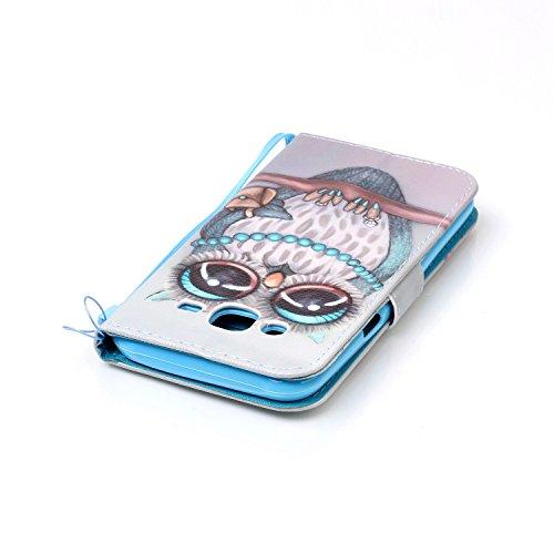 Qiaogle Téléphone Coque - PU Cuir rabat Wallet Housse Case pour Apple iPhone 6 / iPhone 6S (4.7 Pouce) - YB32 / Don't Touch My Phone YB44 / Mlle Hibou