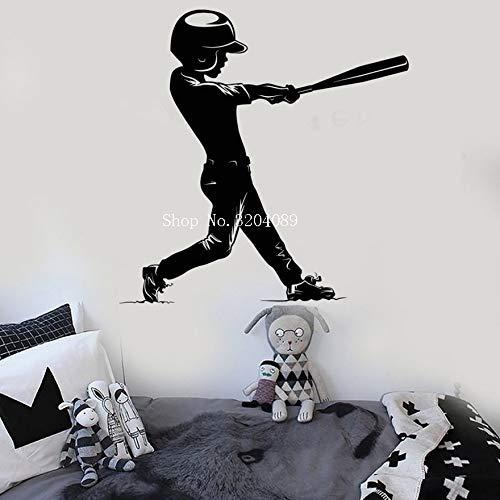 Verkauf badminton player wandtattoo wohnzimmer kunstwand shuttlecock schläger muster springen wandaufkleber sport diy 63 * 57 cm