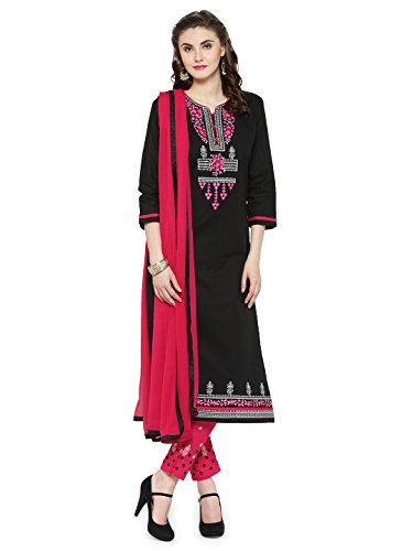 KVS FAB Black & Pink Colour Un-Stitched Dress Material(KVSSK10069SDRS_3)