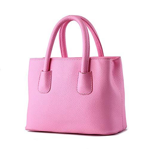 Leder Handtasche/Cross-Body Bag/Umhängetasche/Cross Body/Arbeitstasche/Freizeit,Pink-OneSize ()