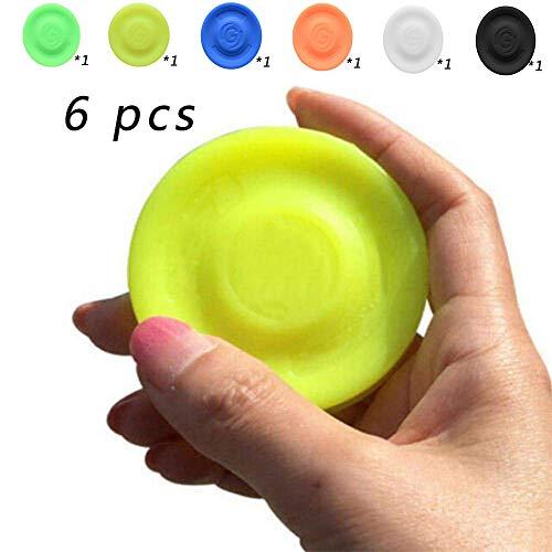 Zip Chip Frisbee, Mini Silikon Tasche Flying Disc, für Outdoor-Sport Strand Eltern-Kind-Aktivitäten Kinder Spin Game Toys (sechs Farben) 6 Pcs -