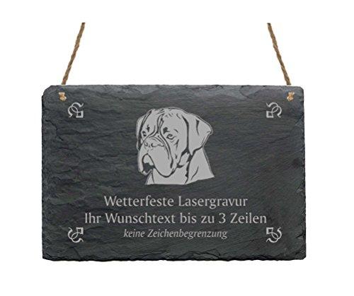 Schiefertafel « BOXER » IHR TEXT + MOTIV - 22 x 16 cm - Schild mit Hund
