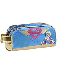 Karactermania Dc Super Hero Girls Supergil Estuches, 20 cm, Azul