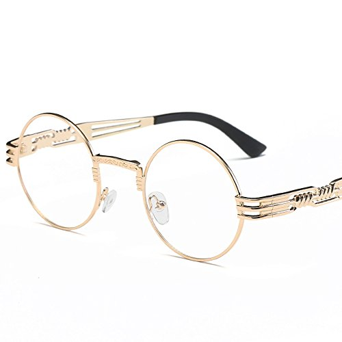 4aa212edbfb Clearance Sale!OverDose Ins Hot Unisex Women Men Gothic Steampunk Sunglasses  Metal Frame Round Shades Sunglasses( 5) - Buy Online in Oman.