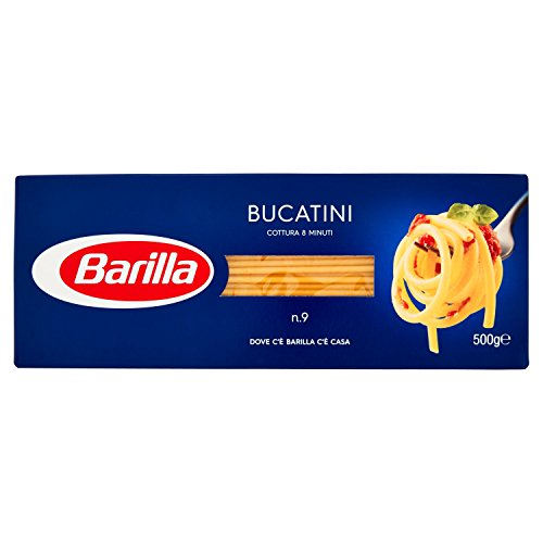 Barilla Pasta Bucatini Semola di Grano Duro, 500 gr