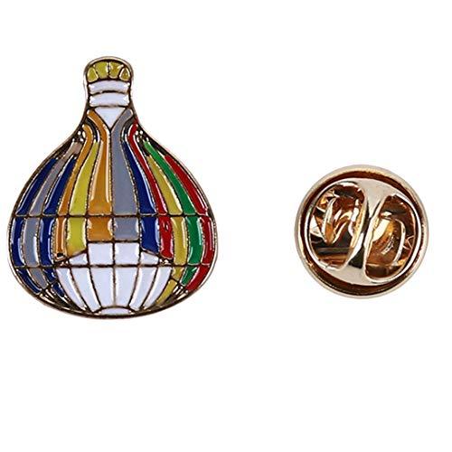 Weryffe Vintage Frau Legierung Brosche Kreative Denim Jacke Rock Pin Schal Schnalle Schmuck Geschenke Für Familie Freunde (Ballon)