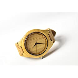 Oakmont Timepieces 'Royale' wooden watch. 45mm Bamboo dial featuring Japanese Quartz movement. 12 Month Warranty inc.