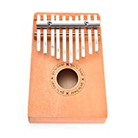 achievr Kalimba 10 Key Thumb Piano, Finger Piano Thumb Piano Solid Finger Piano Solid Mahogany Marimba Finger Instruments, African Wood Finger Piano for Kids Adult Beginners