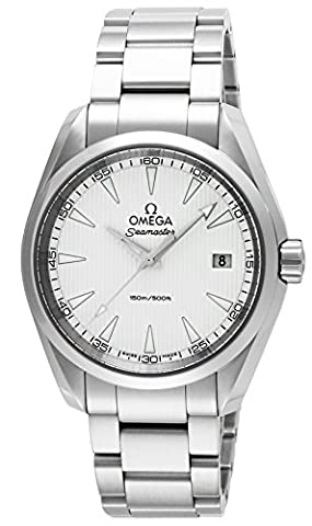OMEGA Men's 38mm Steel Bracelet & Case S. Sapphire Quartz Silver-Tone Dial Analog Watch