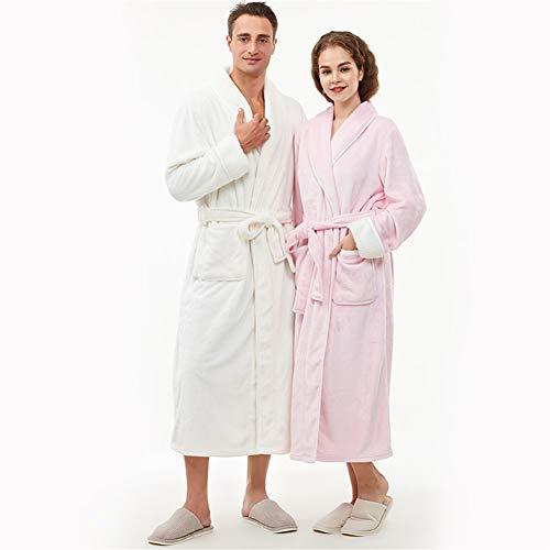 RHRSY Männliche Und Weibliche Volle Länge Flauschige Bademantel, Flauschiger Bademantel Pyjama - EIN Bademantel Mantel Lässige Kleidung Vielen Größen Und Farben (Color : Pink-Women, Size : 165CM)