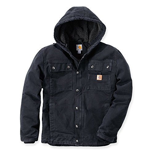 detailed images cheap sold worldwide Carhartt 102285 Sandstone Barlett Mens Hooded Work Jacket | Maillots de  Bain Discount
