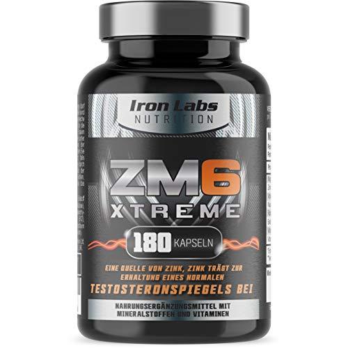 ZM6® Xtreme - 180 Vegetarische Kapseln | 2-3 Monatsvorrat | Zink-Magnesium-Nahrungsergänzungsmittel (offiziell zugelassenes ZM6®) | Enthält Zink für die Regulierung des Testosteronspiegels