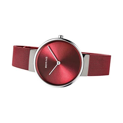BERING Damen Analog Quarz Uhr mit Edelstahl Armband 14531-303
