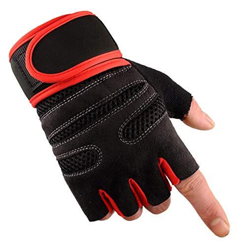 Adisaer Outdoor Sport Fitness Halbe Finger Reiten Handschuhe Lange Armband Radfahren Reite