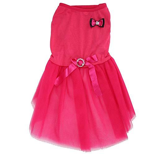 Mootea Niedlichen Haustier Hund Sommerkleid Kleidung roten Welpen Prinzessin Rock Tutu Bekleidung Kostüm(XS)