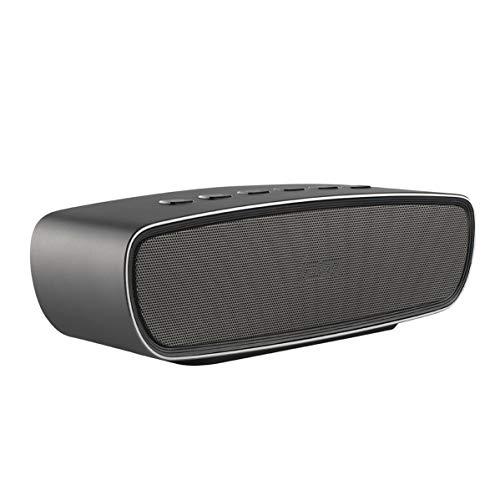 Jam Heavy Metal Cassa Altoparlante 20 W, Wireless Bluetooth 4.0, Fino a 8 Ore di Musica, Finitura Metallico, Funzione Vivavoce, Grigio