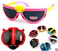 Seelong Multi Color Folding ladybug Shape Cute Sunglasses For Kids